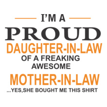 Mother in Law Proud-of-tshirt T-Shirt