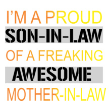 Mother in Law Awesom-son-in-law T-Shirt