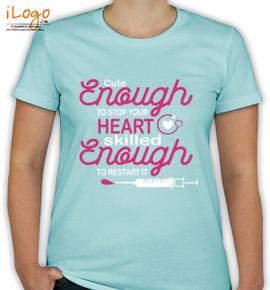 cute enough - T-Shirt [F]