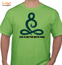 Yoga LIFE-IS-BETTER-WITH-YOGA T-Shirt