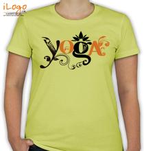 Yoga Yoga-flower-logo T-Shirt