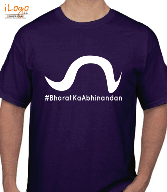 purple #bharatkaabhinandan_:front