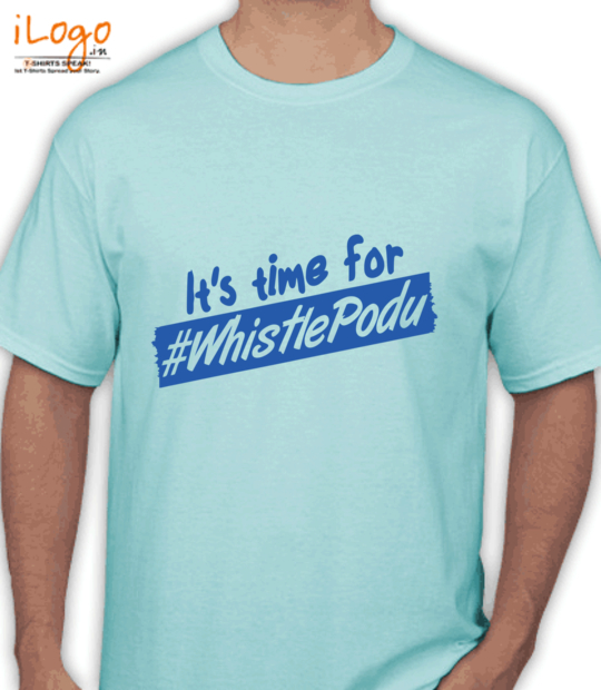 aqua blue it's time for whistle podu:front