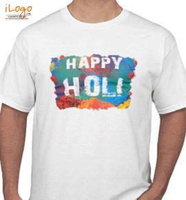 happy holi tshirts - T-Shirt