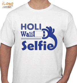 holi wali selfie - T-Shirt
