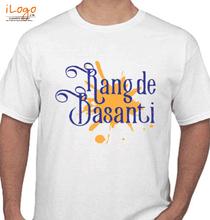 Holi rang-de-basanti-calligraphy T-Shirt