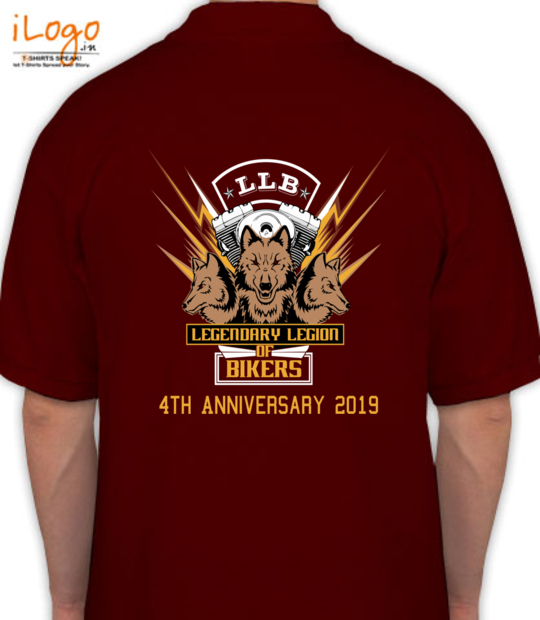 maroon legendary league of bikers 4th anniversary:back