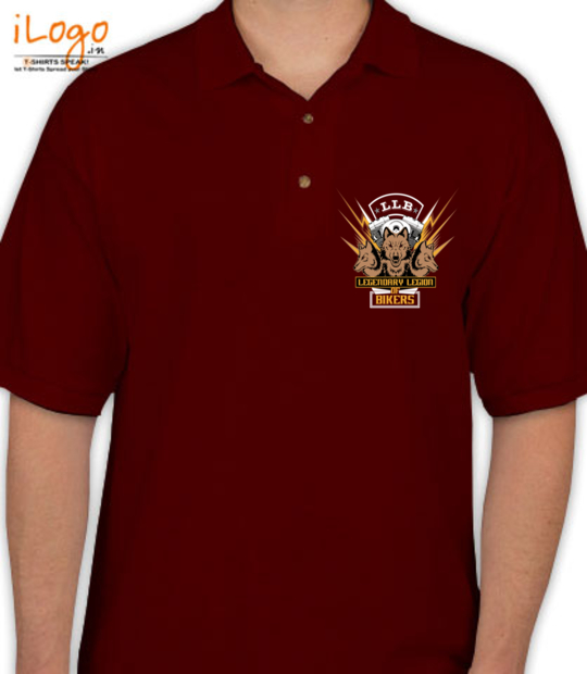 maroon legendary league of bikers 4th anniversary:front