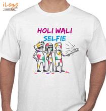 Holi holi-wali-selfie-friends T-Shirt