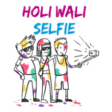 Holi holi-wali-selfie-friends T-Shirt