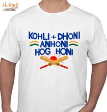 Virat Kohli Kohli-Dhoni-Fans T-Shirt