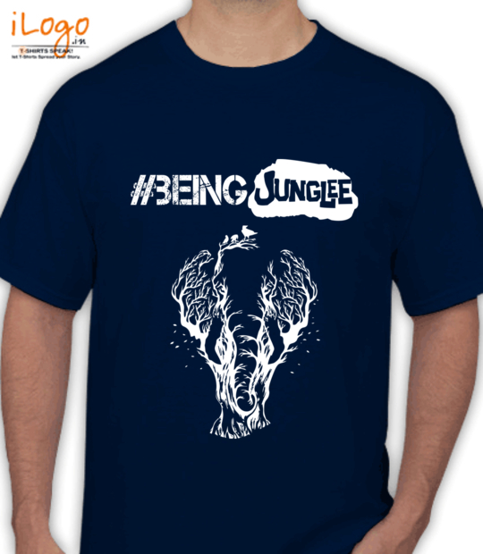 navy blue #beingjunglee:front