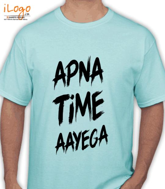 aqua blue #apnatimeaayega:front