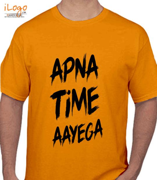 gold #apnatimeaayega:front