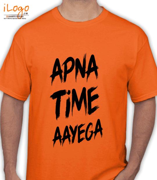 orange #apnatimeaayega:front