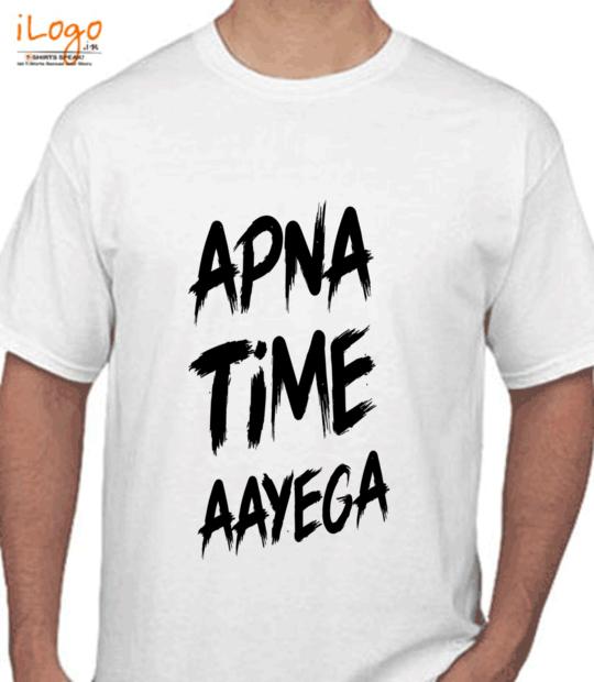 white #apnatimeaayega:front