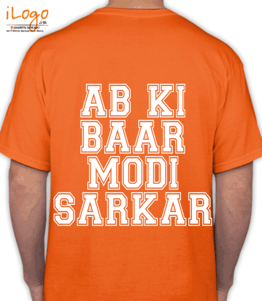 orange ab ki  baar  modi  sarkar:back