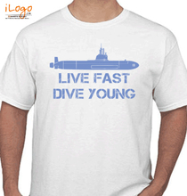 live-fast-dive-young T-Shirt