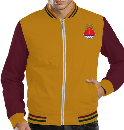 Indian Navy Zipper Jackets ins-kirch-emblem-JACKET T-Shirt