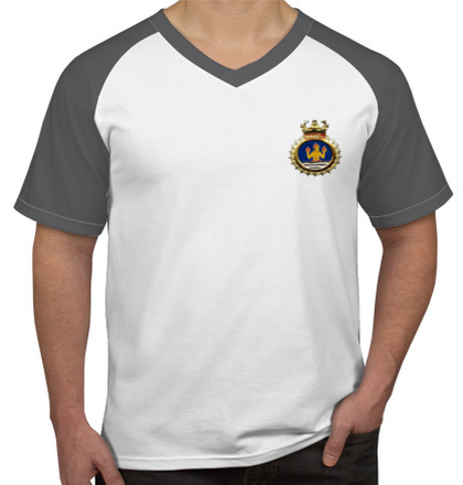 Indian Naval Design Crest-of-INHS-Dhanvantari T-Shirt
