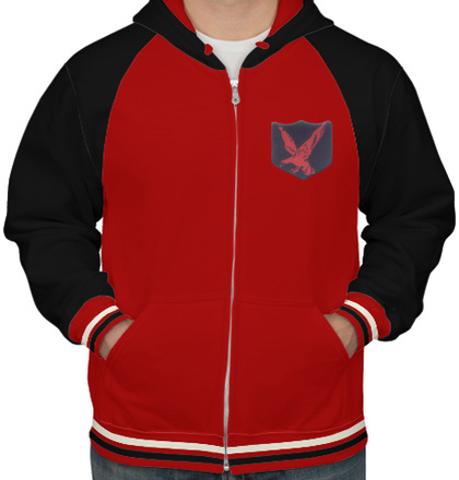 Indian Army Hoodies INFANTARY-DIVISION-RED-EAGLE-HOODIE T-Shirt
