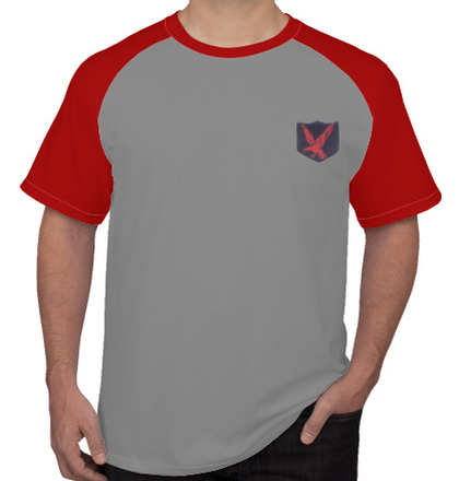 Indian Army Roundneck T-Shirts INFANTARY-DIVISION-RED-EAGLE-TSHIRT T-Shirt