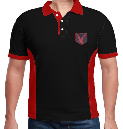 Indian Army Collared T-Shirts INFANTARY-DIVISION-RED-EAGLE-POLO T-Shirt