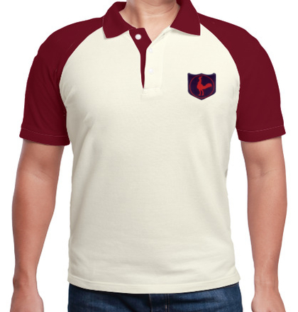 Indian Army Collared T-Shirts INFANTRY-DIVISION-FIGHTING-COCK-POLO T-Shirt