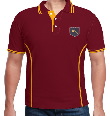 Indian Army Collared T-Shirts INFANTRY-DIVISION-GOLDEN-AXE-POLO T-Shirt