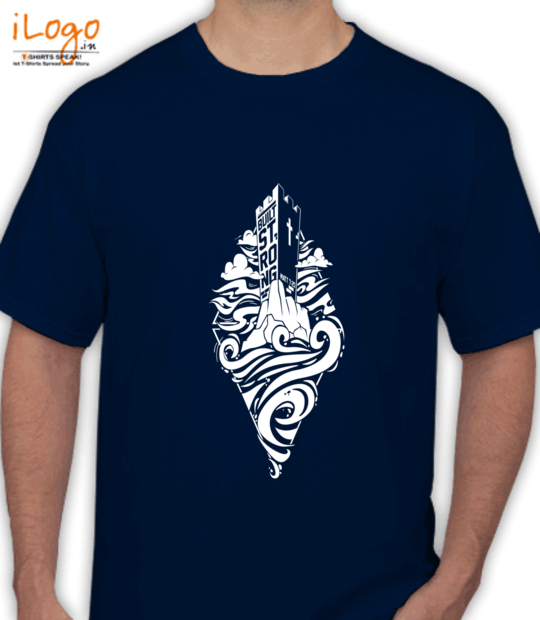 navy blue built strong:front