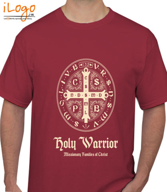 maroon holy warrior:front
