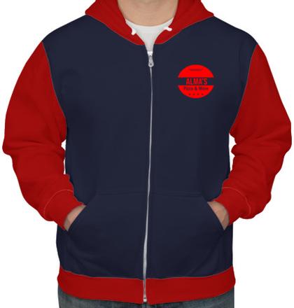 Zipper Hoodies AlmsPizza T-Shirt