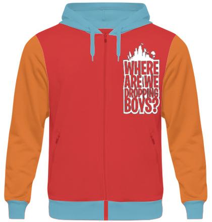 Zipper Hoodies Dropping-Boys-Logo T-Shirt