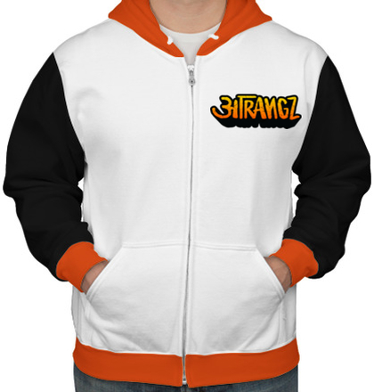 Zipper Hoodies Atrtet-Llogo- T-Shirt