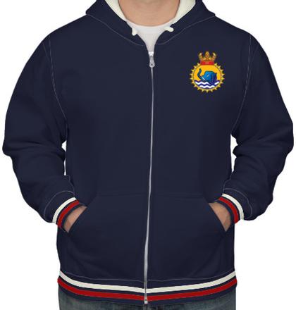 Indian Navy Hoodies INS-gaj-emblem-tshirt-HOODIE T-Shirt