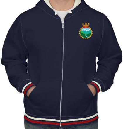 Indian Navy Hoodies INS-Ganga-emblem-HOODIE T-Shirt