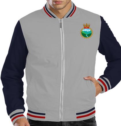 Indian Navy Zipper Jackets INS-Ganga-emblem-JACKET T-Shirt