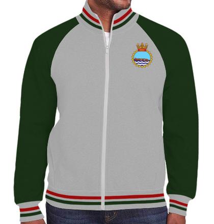 Indian Navy Zipper Jackets INS-gharial-emblem-jacket T-Shirt