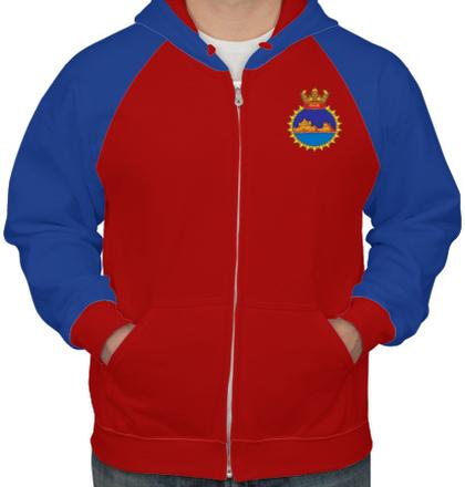 Indian Navy Hoodies INS-Gomati-emblem-HOODIE T-Shirt