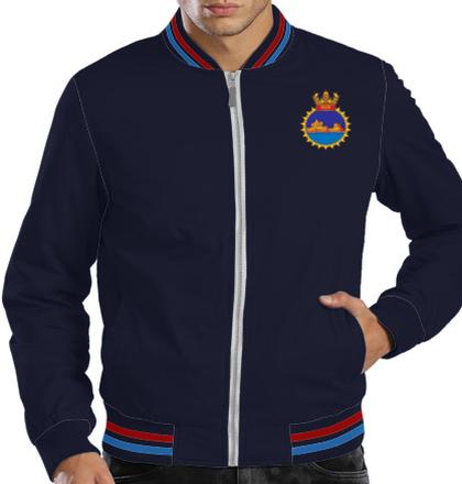 Indian Navy Zipper Jackets INS-Gomati-emblem-Jacket T-Shirt