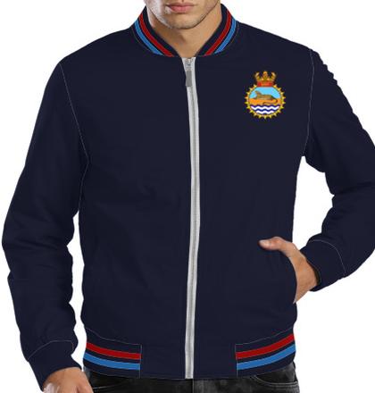 Indian Navy Zipper Jackets INS-guldar-emblem-Jacket T-Shirt
