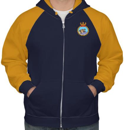 Indian Navy Hoodies INS-Jalashwa-emblem-HOODIE T-Shirt