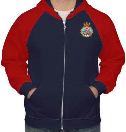 Indian Navy Hoodies INS-Jamuna-emblem-hoodie T-Shirt