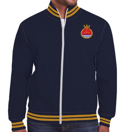 Indian Navy Zipper Jackets ins-karmuk-emblem-JACKET T-Shirt