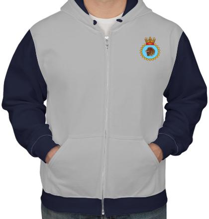 Indian Army Hoodies INS-Kesari-emblem-hoodie T-Shirt