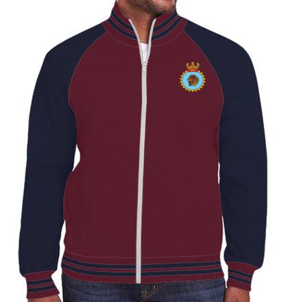 Indian Navy Zipper Jackets ins-kesari-emblem-JACKET T-Shirt