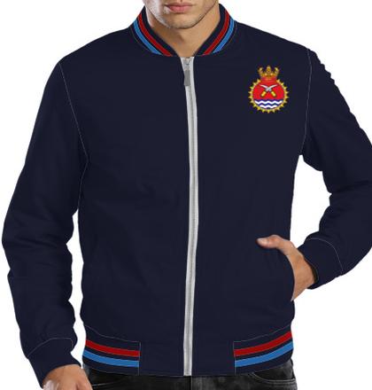 Indian Navy Zipper Jackets ins-khanjar-emblem-JACKETS T-Shirt
