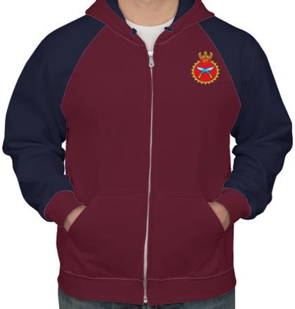 Indian Navy Hoodies INS-Khukri-emblem-HOODIE T-Shirt