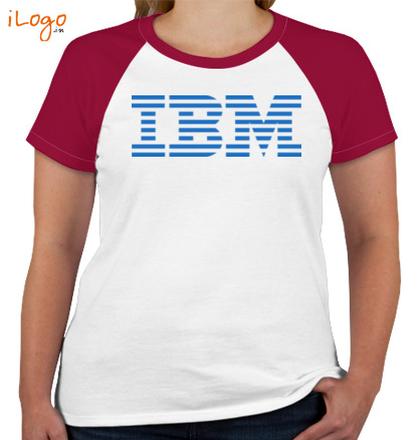 IBM-Women%s-Round-Neck-Raglan-Half-Sleeves T-Shirt