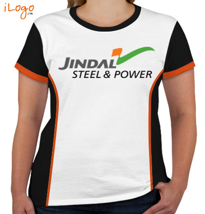 JINDAL-STEEL-AND-POWER-Women%s-Round-Neck-With-Side-Panel T-Shirt